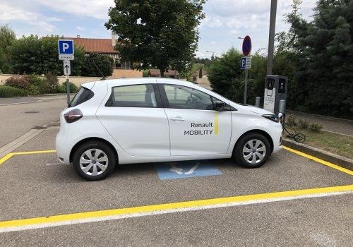 Véhicule électrique en autopartage